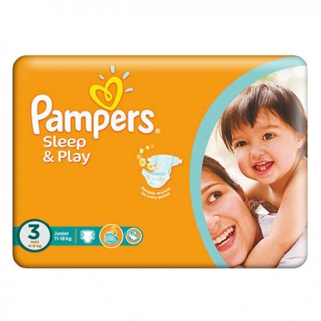 Pampers - Pack 78 Couches Sleep & Play taille 3 sur Les Couches