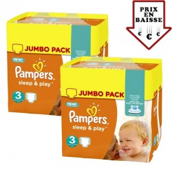Pampers - Maxi giga pack 312 Couches Sleep & Play taille 3 sur Les Couches