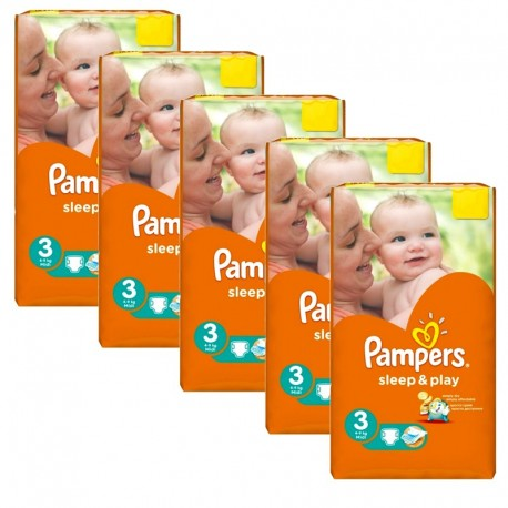 Pampers - Maxi giga pack 390 Couches Sleep & Play taille 3 sur Les Couches