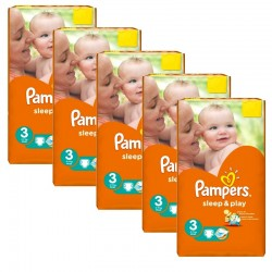 Pampers - Pack jumeaux 546 Couches Sleep & Play taille 3 sur Les Couches