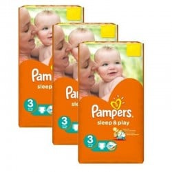 Pampers - Pack jumeaux 702 Couches Sleep & Play taille 3