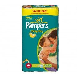 Pampers - Pack 78 Couches Baby Dry taille 4 sur Les Couches