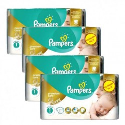 Pampers - Maxi mega pack 484 Couches New Baby Premium Care taille 1 sur Les Couches